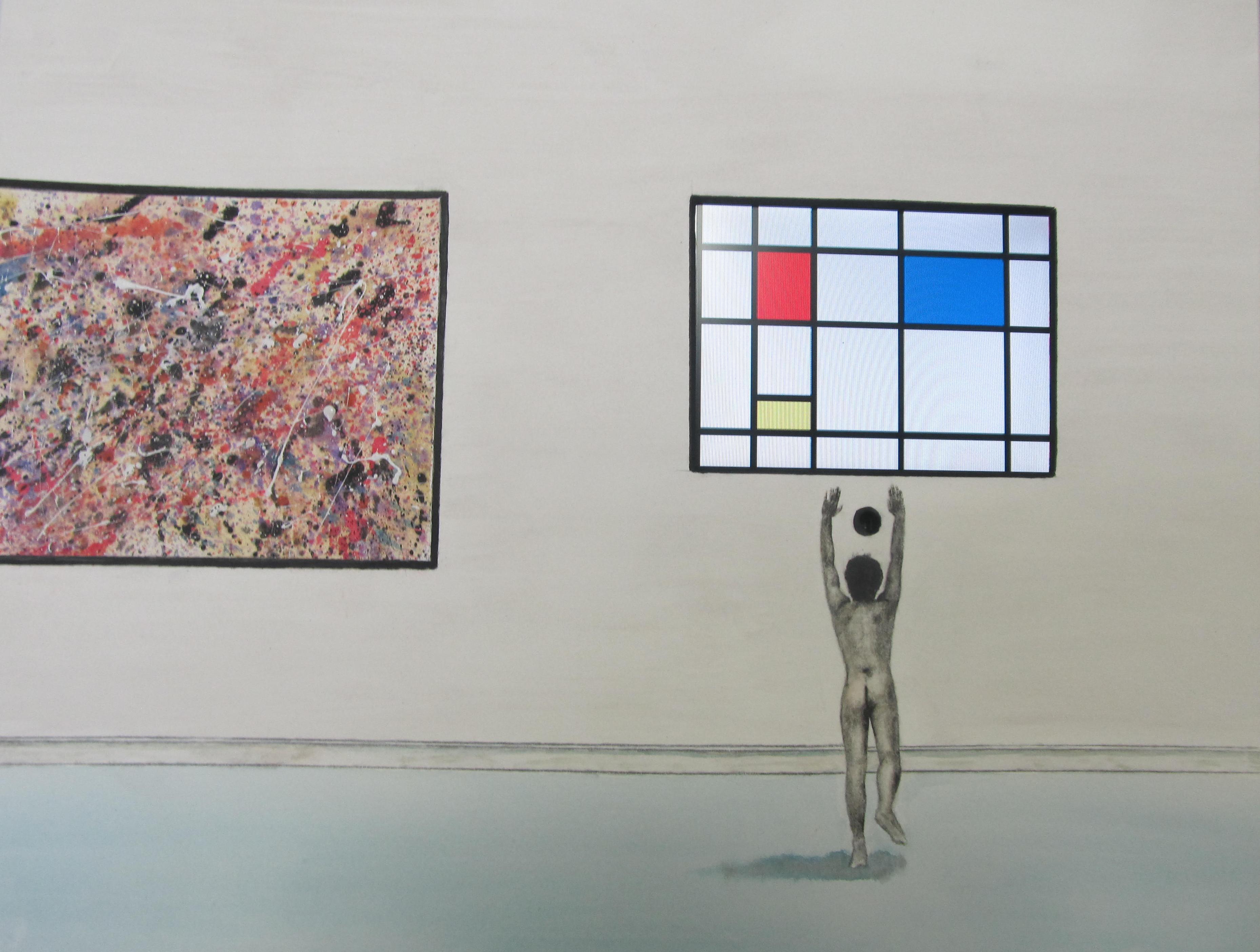 Artist Worshiping at the Altar of Modern Art